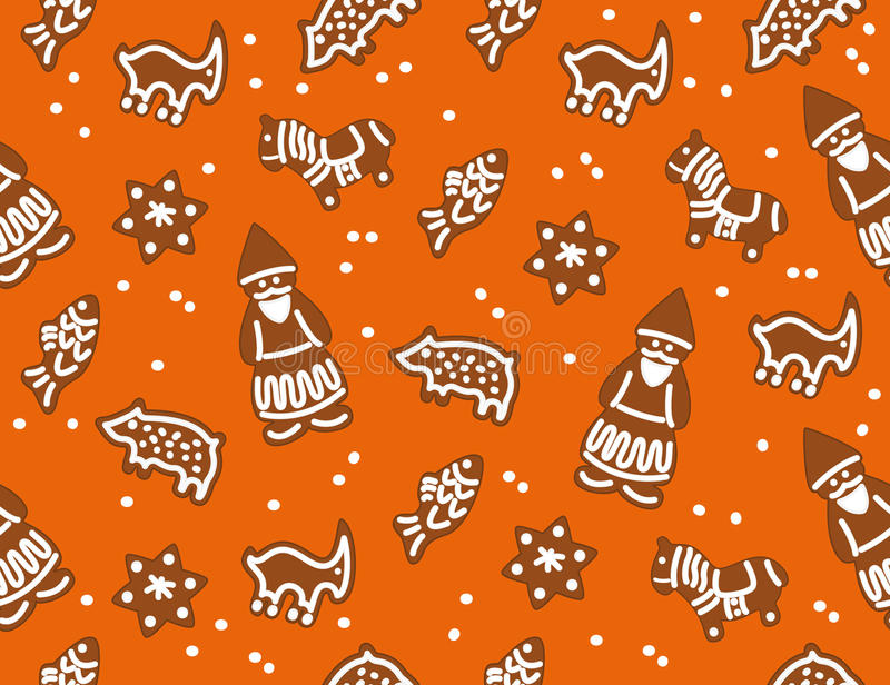 Christmas cookies seamless stock illustration