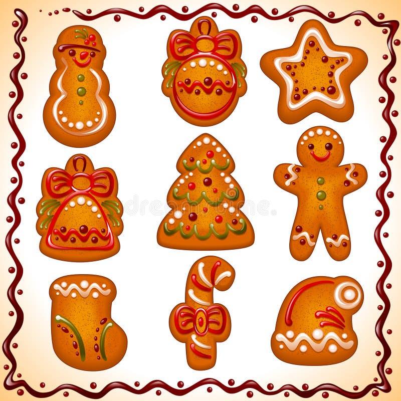 Christmas cookies set stock illustration