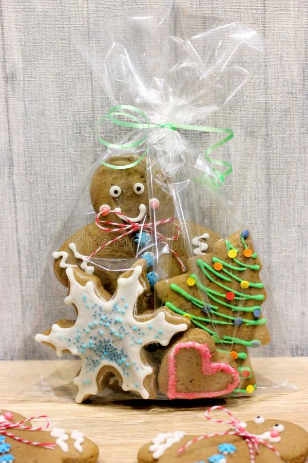 Christmas cookies set royalty free stock photo