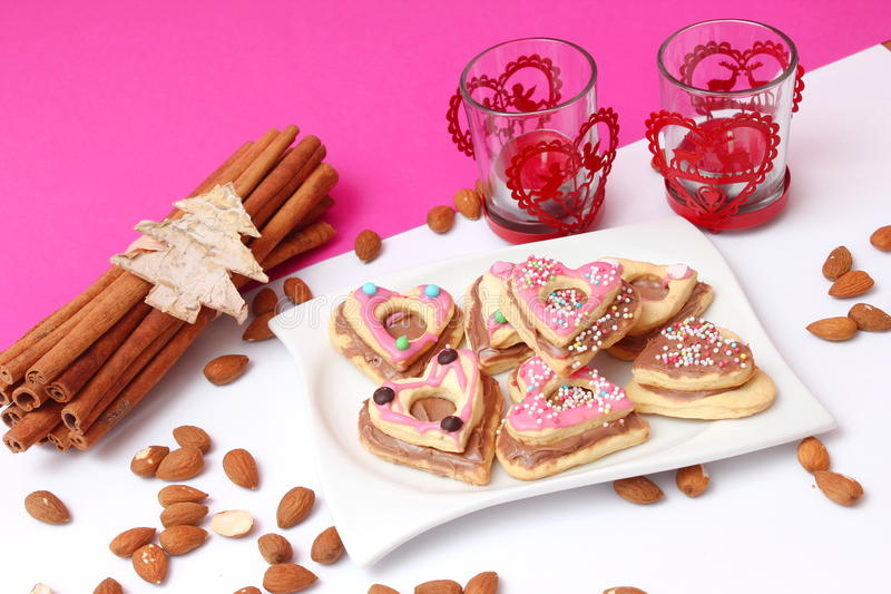 Download Christmas cookies stock photo. Image of cake, almonds - 35090662