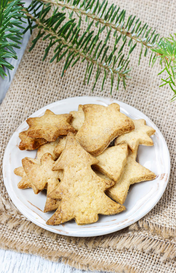 Download Christmas Cookies Under Fir Branch. Stock Photo - Image: 40536092