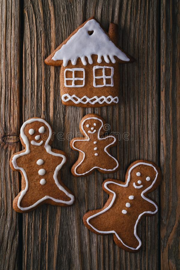 Christmas cookies for the whole family. Top view royalty free stock photography