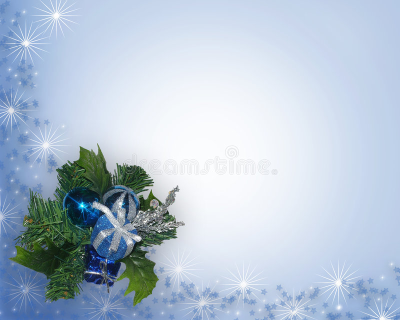 Christmas corner Blue ornament royalty free illustration