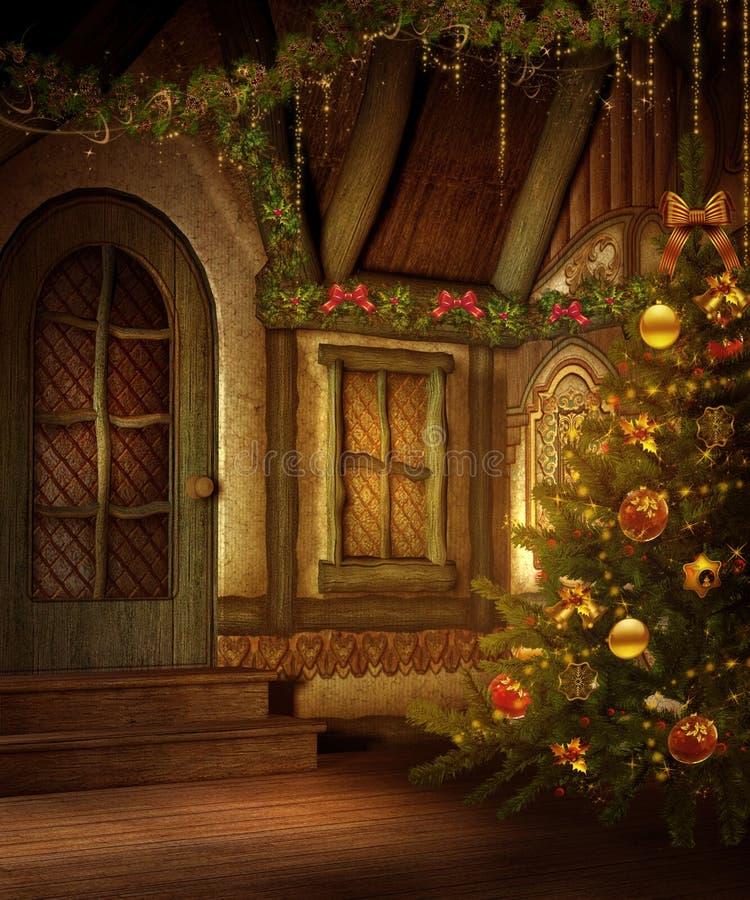 Christmas cottage 2 royalty free illustration