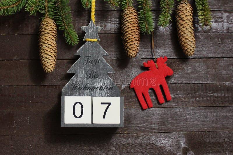 The christmas countdown stock photography