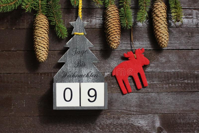 The christmas countdown royalty free stock photography