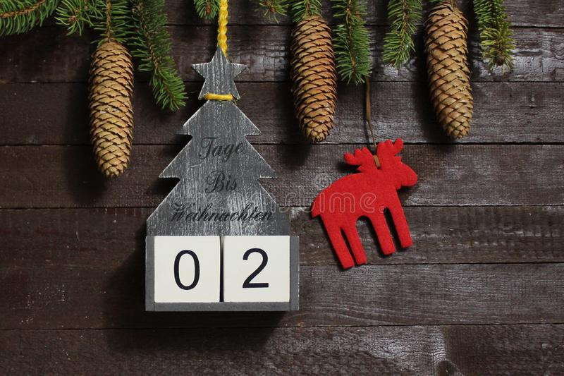 The christmas countdown royalty free stock images