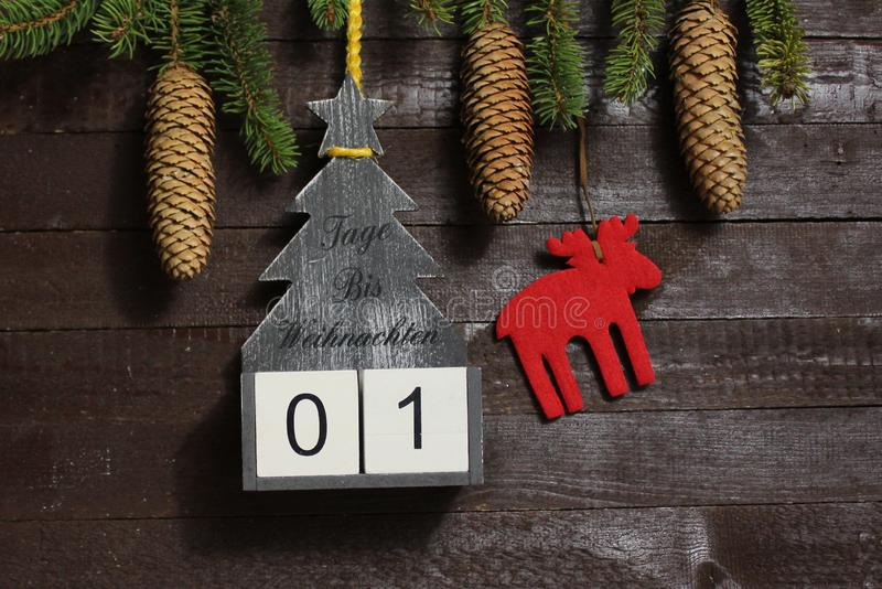 The christmas countdown stock images
