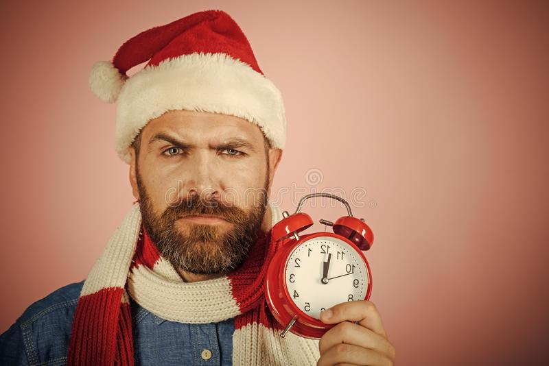 Christmas countdown to midnight royalty free stock images