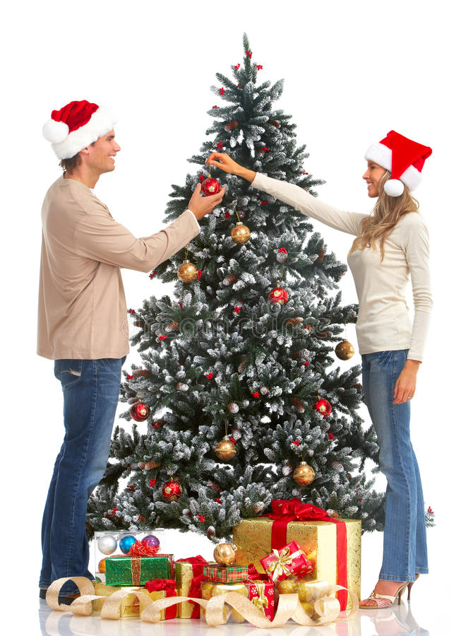 Download Christmas couple stock image. Image of decoration, couple - 11394821