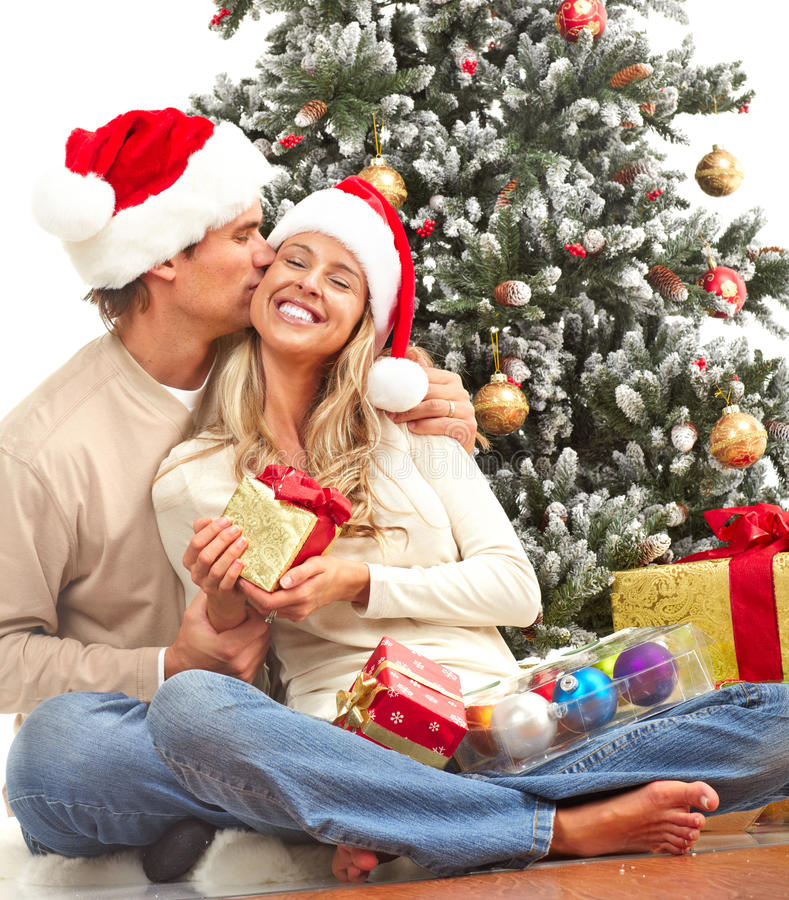 Free Christmas Couple Royalty Free Stock Photography - 11989617