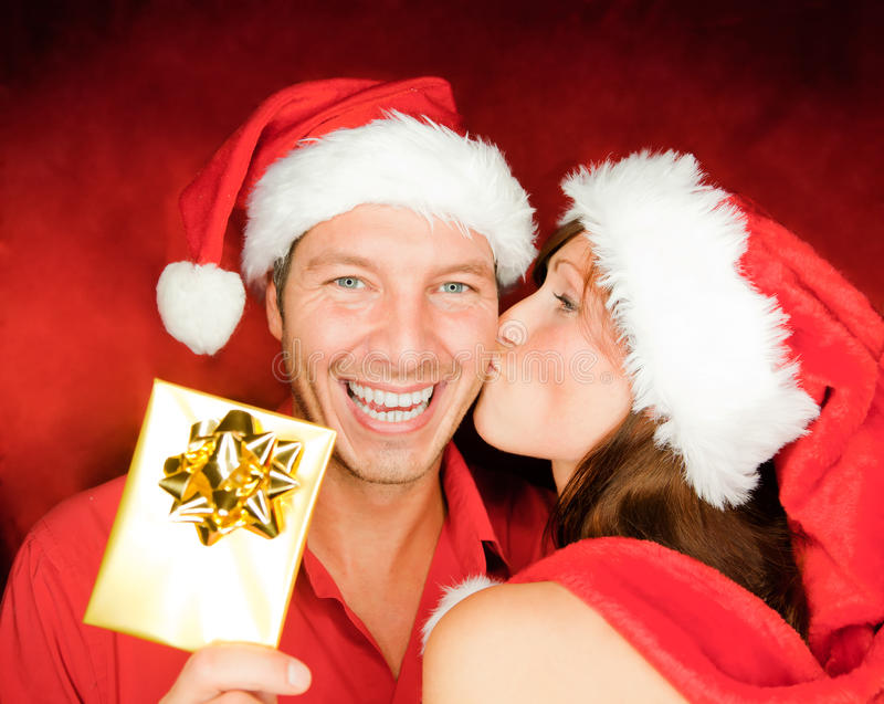 Download Christmas couple stock image. Image of caucasian, adult - 16639417