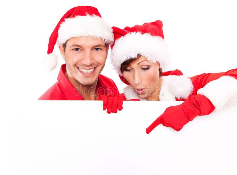 Christmas couple royalty free stock image