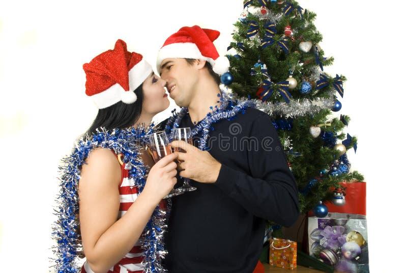 Christmas couple stock image