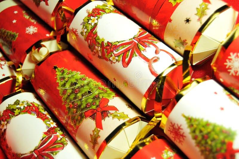 Christmas crackers stock photos