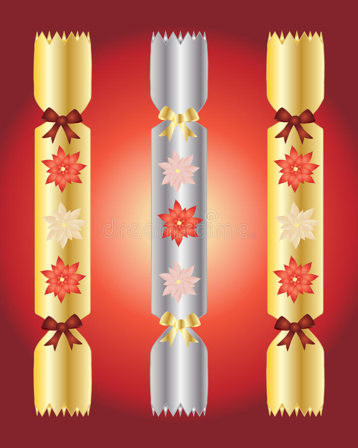 Christmas crackers royalty free illustration