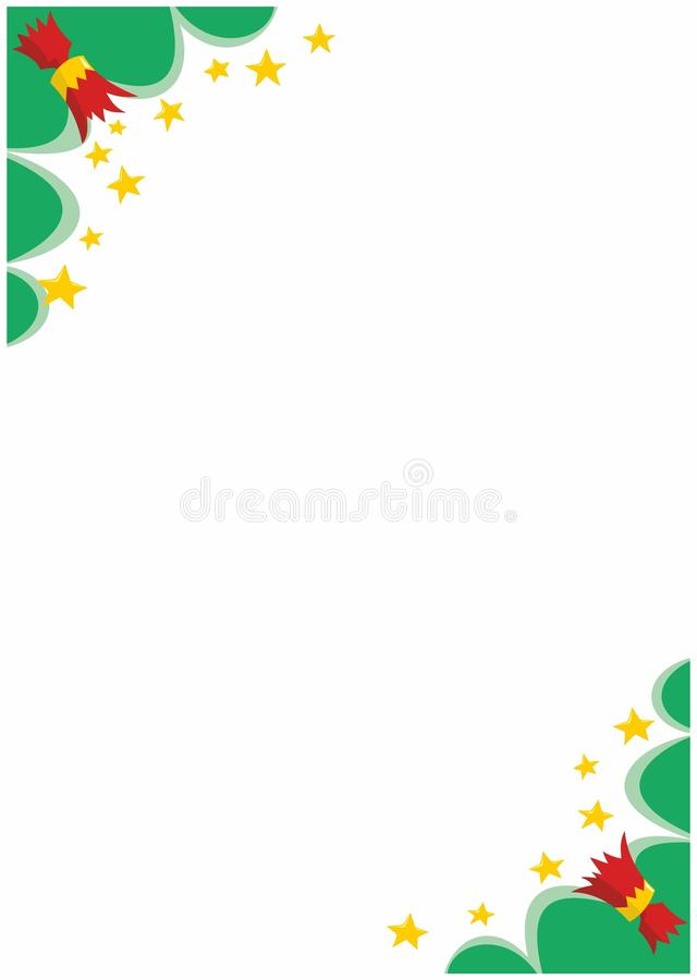 Christmas Crackers A4 Border Corners stock illustration