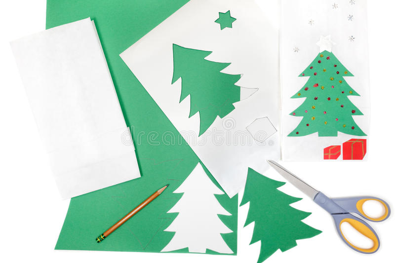 Christmas craft materials royalty free stock image