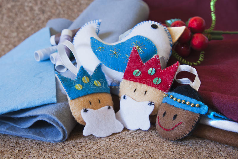 Christmas crafts royalty free stock photos