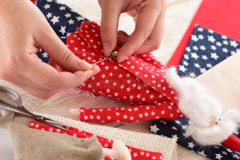 Christmas crafts royalty free stock images
