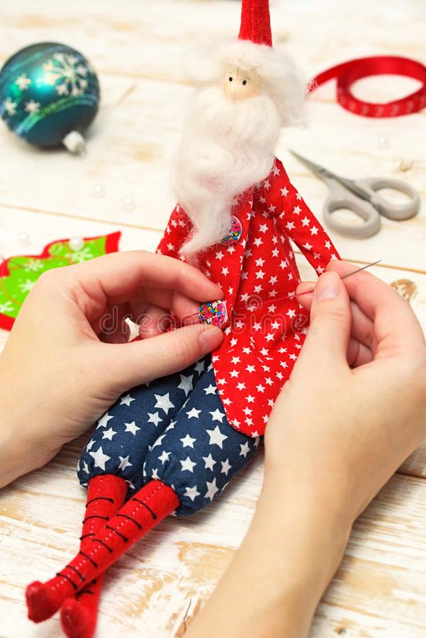 Christmas crafts royalty free stock image