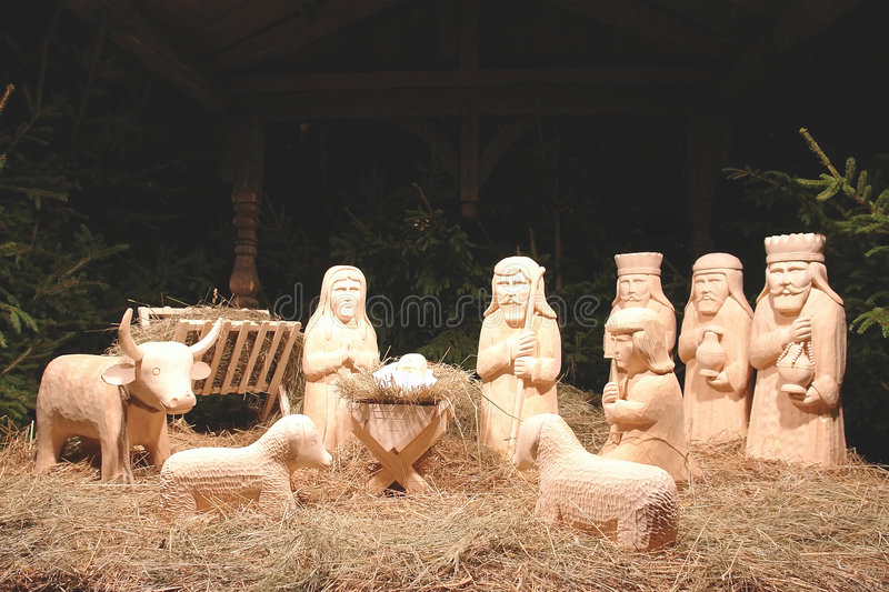 Download Christmas crib stock image. Image of craft, sculpture - 1621889