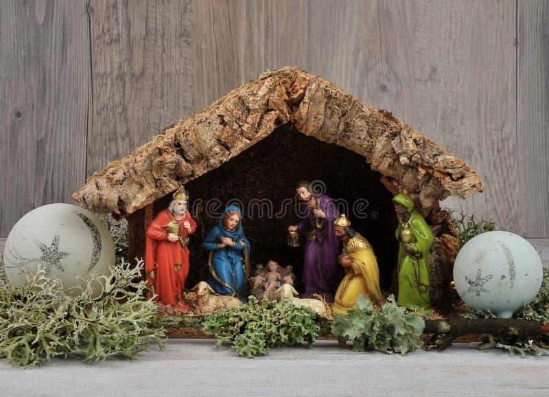 Christmas crib. Colorful and crisp image of christmas crib royalty free stock photo