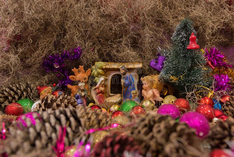 Christmas Themes-Nativity scenes of Santa Claus 04 royalty free stock photography