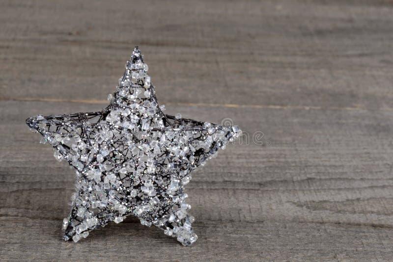 Christmas crystal star stock photos