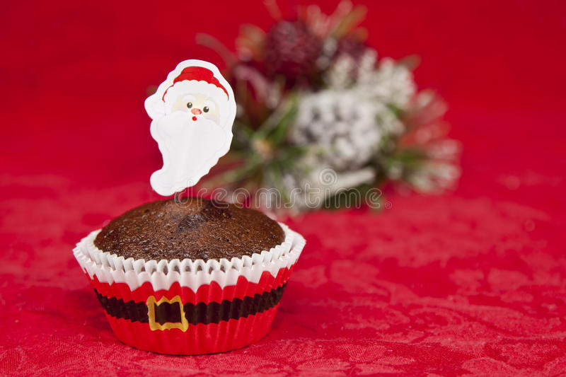Download Christmas cupcake stock photo. Image of tree, icing, background - 22067940