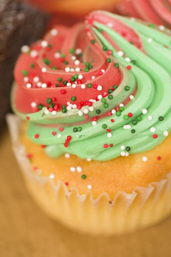 Christmas cupcake royalty free stock photos