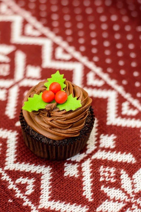 Christmas cupcake royalty free stock image