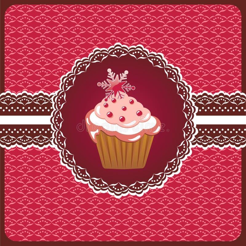 Free Christmas Cupcake On The Doily. Stock Photo - 22190220