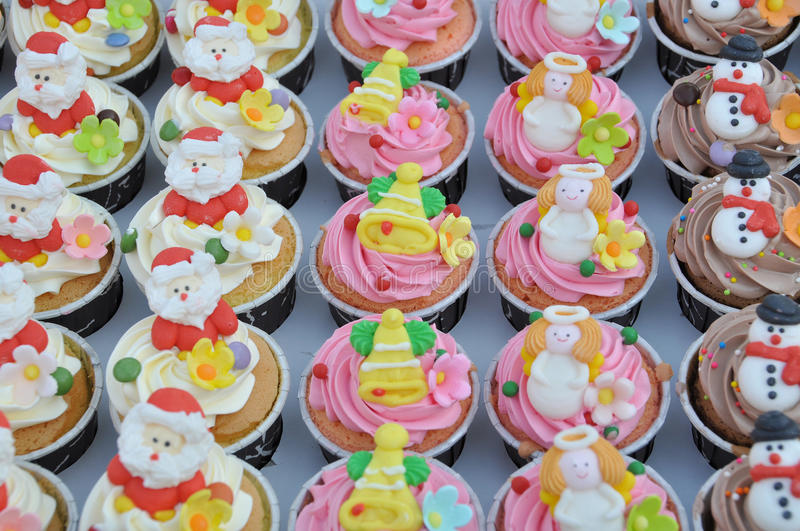 Download Christmas cupcakes. stock photo. Image of birthday, decorated - 31691830