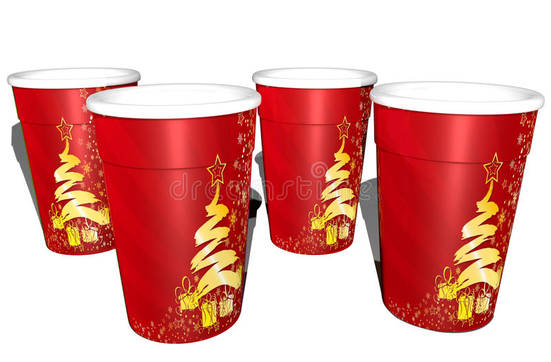 Christmas cups royalty free stock image