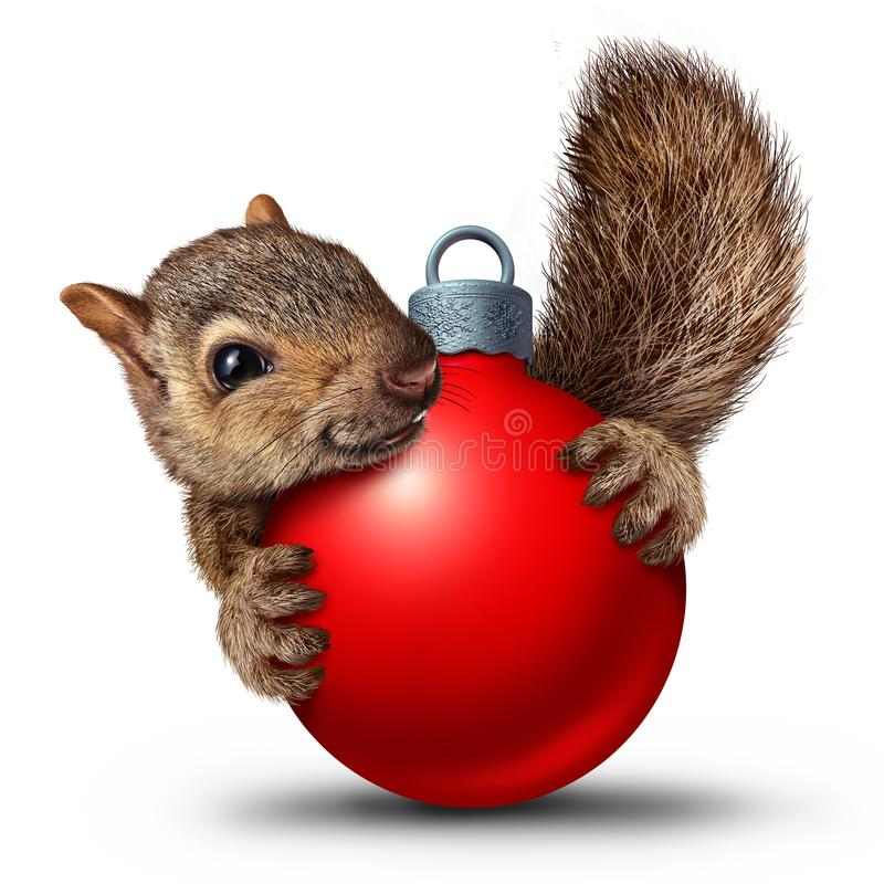 Christmas Cute Squirrel royalty free illustration
