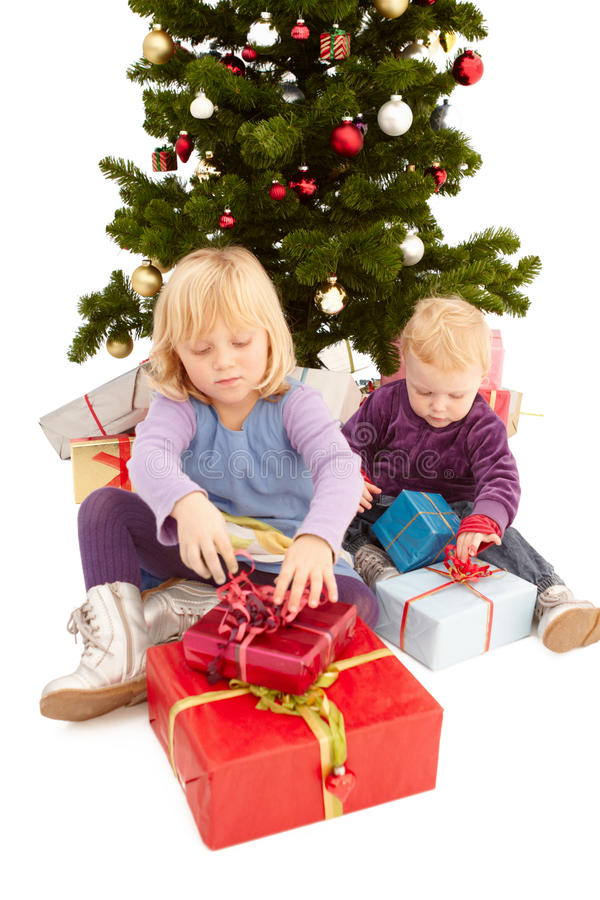 Download Christmas - Cute Young Girls Stock Image - Image: 11552273