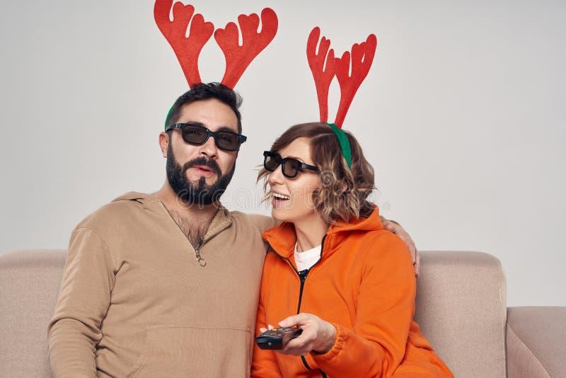 Christmas 3D movie entertainment royalty free stock image