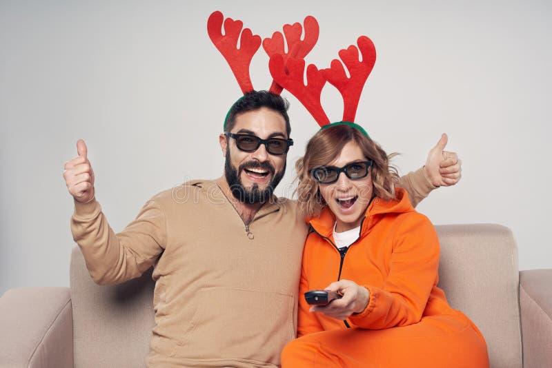 Christmas 3D movie entertainment stock photo
