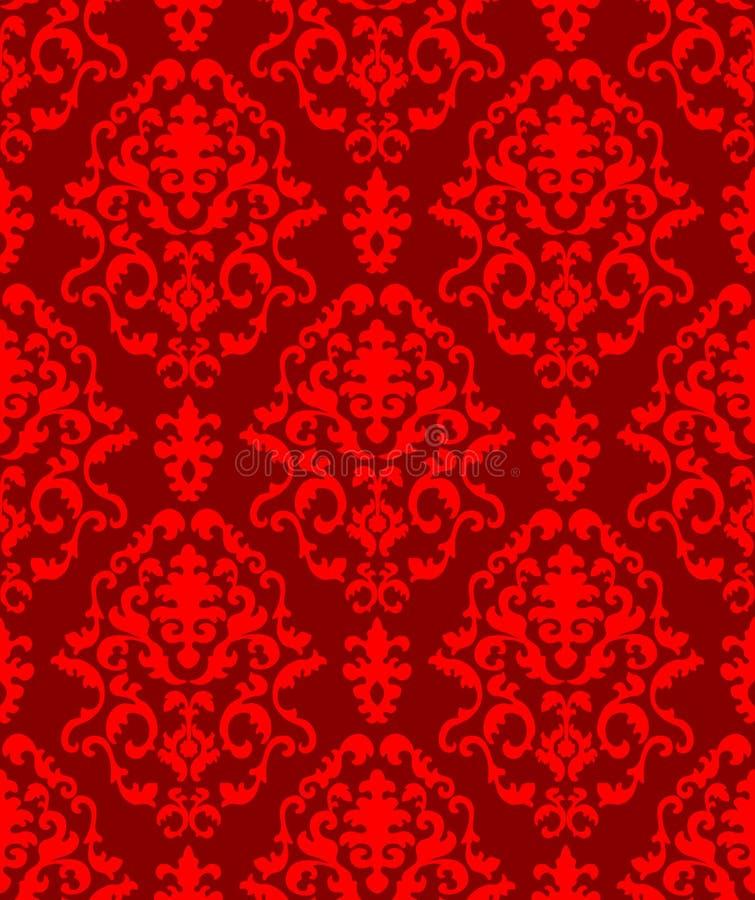 Christmas damask pattern royalty free illustration