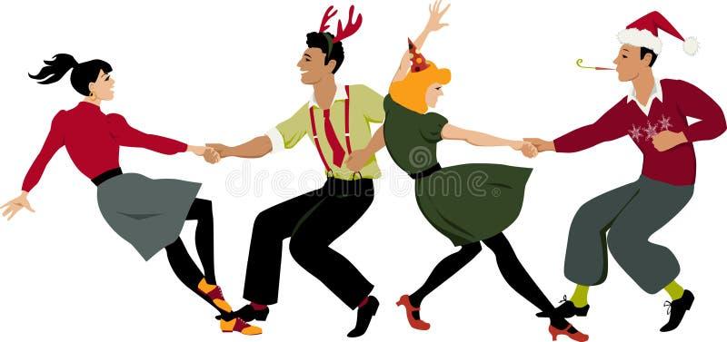 christmas dance party stock vector illustration of celebration rh dreamstime com Christmas Count Down Calendar Christmas Party Clip Art