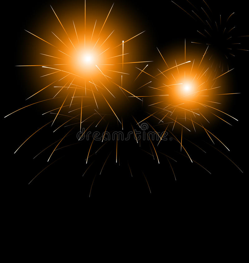 Christmas dark background with fireworks. Illustration Christmas dark background with fireworks - vector vector illustration