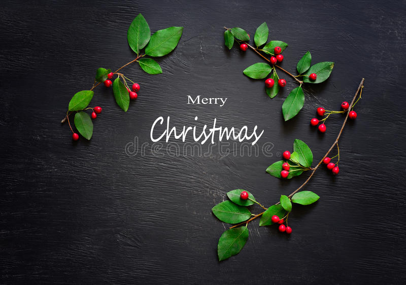 Christmas dark background stock photo