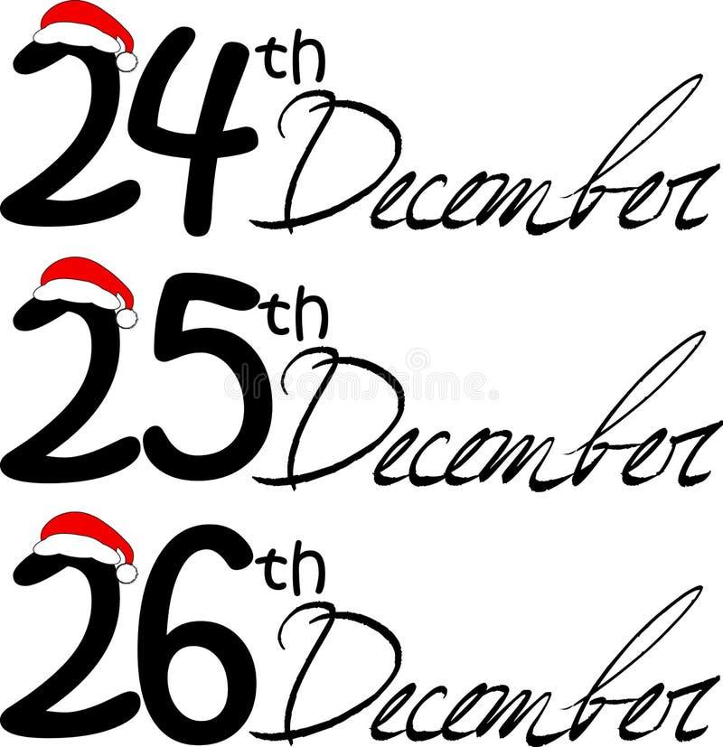 Christmas dates. Isolated on white royalty free illustration