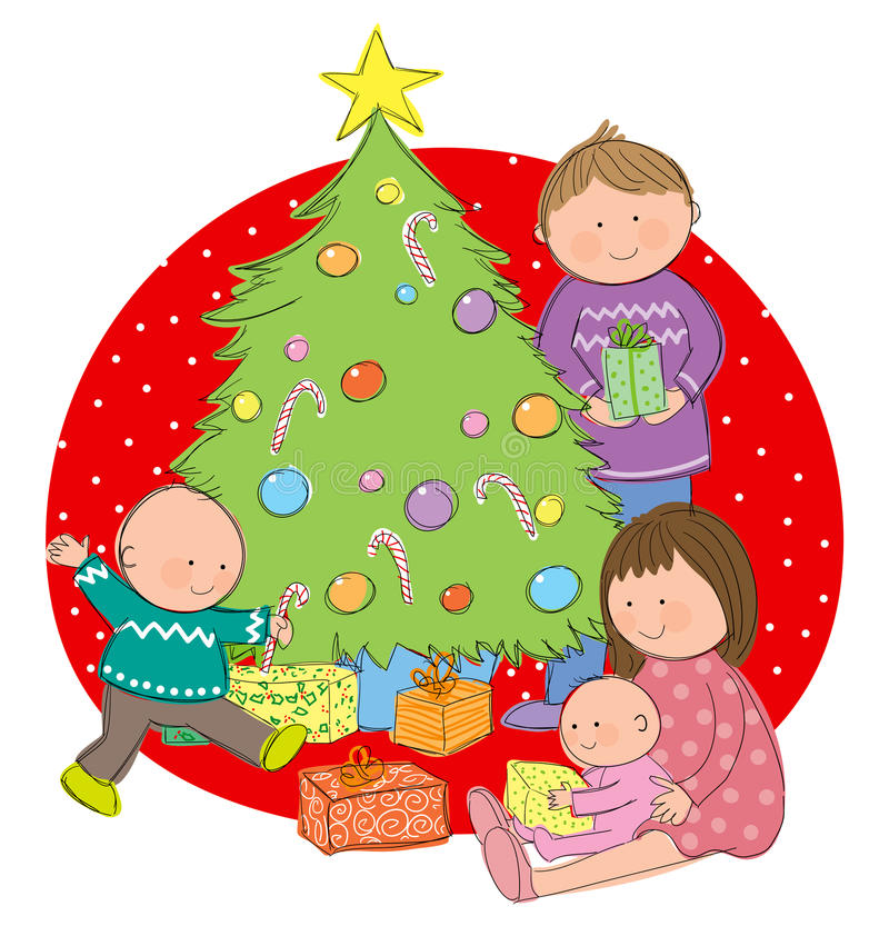 Download Christmas Day stock vector. Image of seasonal, doodle - 29331182