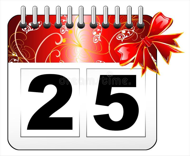 Download Christmas Day Calendar Icon Stock Vector - Image: 7536641
