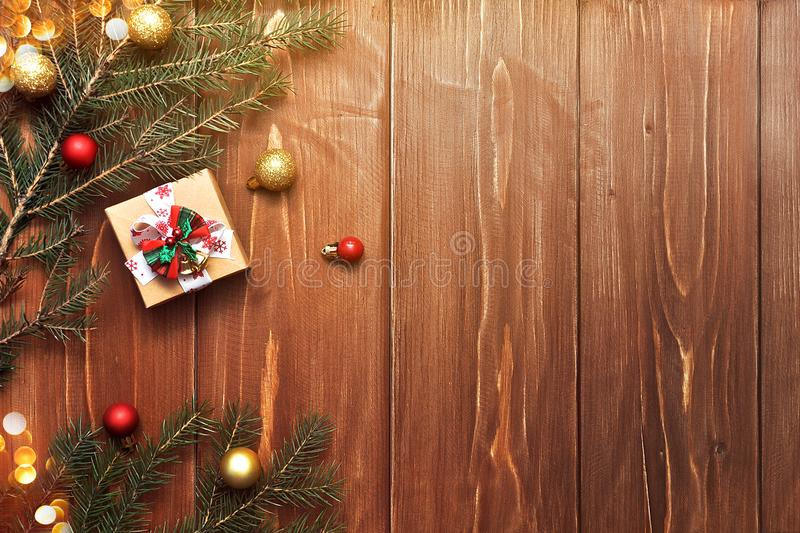 Christmas decor and gift stock images