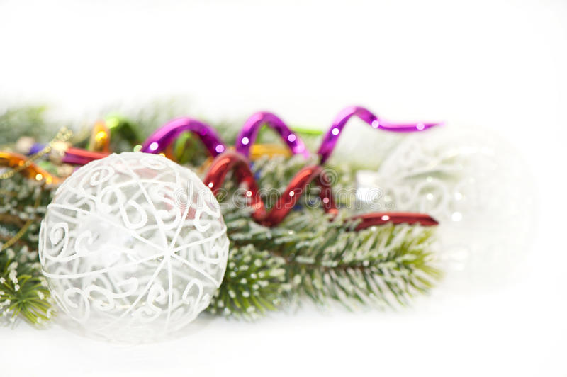 Christmas decor with space for text royalty free stock images