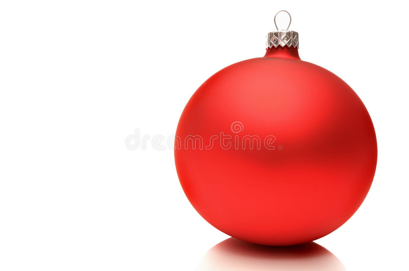 Christmas decoration. Red christmas decoration on white background royalty free stock photography