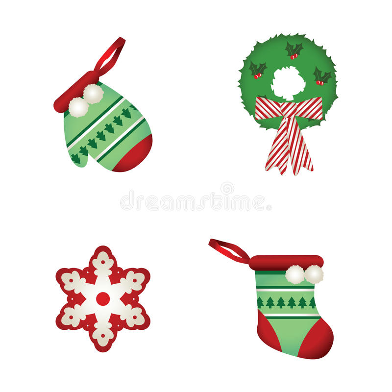Download Christmas Decoration 2 stock illustration. Illustration of greeting - 16087808